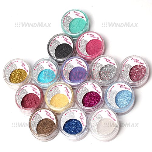 Professional Mixed 15 Warm Colorful Glitter Shimmer Pearl Lo
