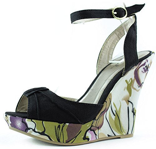 f45717231367 Qupid Women s Ceduce-244 Platform Wedges Fashion Shoes - Buy Online in Oman.