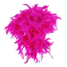 SODIAL(R) 2m Feather Boas Fluffy Craft Costume Dressup Wedding Party Home Decor (Hot Pink)