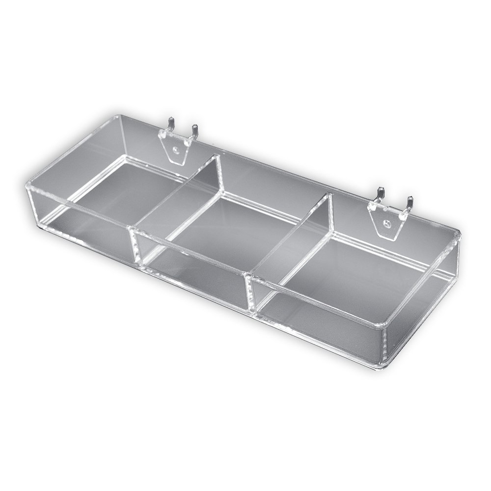 Azar 225503 3-Compartment Tray for Pegboard/Slatwall
