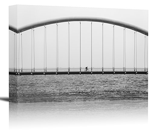 Humber Bay Bridge Toronto Canada Art Print Wall Decor Image - Canvas Stretched Framed 8 x 12 - - To Ship Canada Usps Does