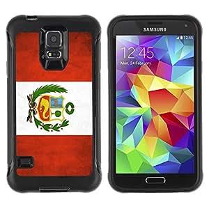 Suave TPU GEL Carcasa Funda Silicona Blando Estuche Caso de protección (para) Samsung Galaxy S5 V / CECELL Phone case / / National Flag Nation Country Peru /