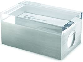 MoMA Page 1 Business Card Box, Clear Lid