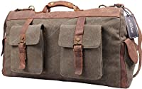 Blueblue Sky Oversized Leather Canvas Casual Travel Satchel Luggage Duffel Handbag#1858