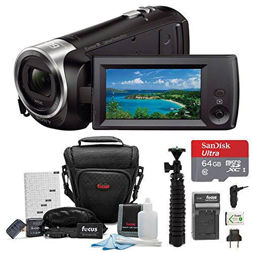 Sony HD Video Recording HDRCX405 HDR-CX405/B Handycam Camcorder (Black) + 64GB Premium Bundle (Sony Handycam Video Camera)