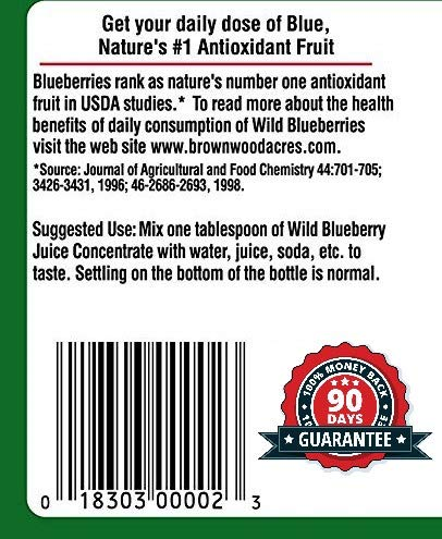 Wild Blueberry Juice Concentrate by FruitFast - Non-GMO, Gluten and BPA Free, Kosher Certified Fruit Juice Concentrate - Promotes Healthy Brain Function (32 Ounce)
