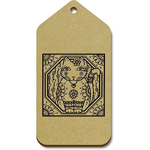 Regalo motivo 51mm Large Azeeda 10 10 tg00015349 Etiquetas Azeeda X X Gato' Del equipaje Hippie 99mm 'motivo Grande 6qUFwB