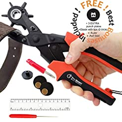 Leather Hole Punch Set for Belts, Watch ...