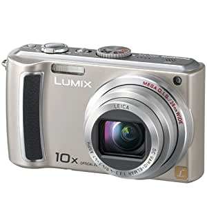 Panasonic Lumix DMC-TZ5S 9MP Digital Camera with 10x Wide Angle MEGA Optical Image Stabilized Zoom (Silver)