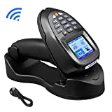 Nuberopa Barcode Scanner Wireless Inventory Collector Device Portable Data Terminal Bar Code Reader PDT/PDA with TFT Color LCD Screen & USB Cradle Receiver Charging Base