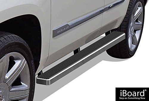 - APS iBoard (Silver 4 inches) Running Boards | Nerf Bars | Side Steps | Step Rails for 2000-2019 Chevy Tahoe & GMC Yukon 4Dr (Excl. Z71&Denali) & 01-17 Cadillac Escalade (Excl. ESV/EXT)