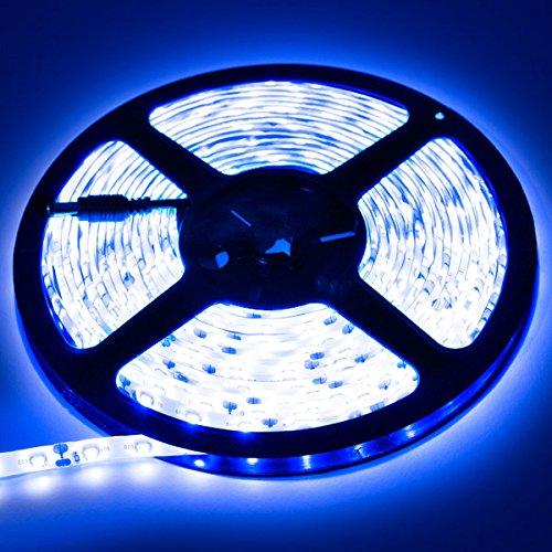 Biltek 16.4' Feet Blue 300 LEDs Light SMD3528 On/Off Switch Control Kit 110V Plug LED Strip Lighting Reading Light Strip Night Light Lamp Bulb Accent Lights Waterproof 3528 SMD Flexible DIY 220V