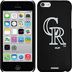 Coveroo iPhone 5 5s Black Thinshield Snap-On Case with Colorado Rockies Emblem with Black Design
