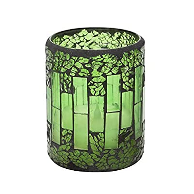 GiveU Mosaic Glass Flameless Pillar Led Candle with Timer,3X4,Green for Home Decor, Weddings, Parties and Awesome Gifts - ARE YOU PLANNING A PARTY OR WEDDING? -- Unique and unchained cracked mosaic glass design style. Made with high quality wax and mosaic glass that include a 4&8 hour timer. . .they are perfect for Weddings and Parties. . .or a quite evening for two. Now prepare to enjoy a party in the candlelight. . . EASY TO USE TIMER -- Just set the timer to illuminate the candle at the same time every day. The switch on the bottom of each candle allows you to set the 4/8 hour timer glow, automatically turn on at the same time on the next day. It toggles: Off/Timer for easy & convenient operation. Electric fake pillars which make a great gift for teens, seniors and anyone that love candles 4&8. PEACE & COMFORTABLE -- Enjoy all the benefits of traditional candles and none of the negatives! No more dripping-hot wax, no more smoke or worry about falling asleep without blowing out the candles. Blinking slowly, like a real candle flame, it won't have any scent, create romantic and peaceful private environment for your time. - living-room-decor, living-room, candles - 51TfZ5NS1XL. SS400  -