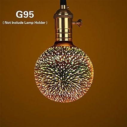 Ampoule LED 3D RGB E27 Effet Feux d'artifice Edison Ampoule Vacances Noël Fête Décor Lumière, G95