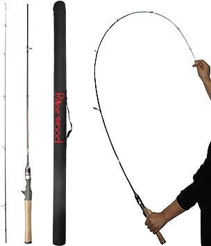Rosewood 1,8 m (602) ultraligero caña de spinning Soild punta ...
