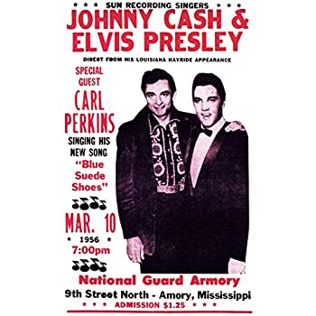 johnny cash w elvis presley concert poster vintage concert poster mississippi. Black Bedroom Furniture Sets. Home Design Ideas