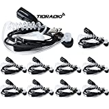TIDRADIO 2 Pin Covert Air Acoustic Tube Headset for Kenwood PUXING Baofeng UV-5R TID TD-M8 Retevis H777 RT7 2 Way Radio(10 Pack)