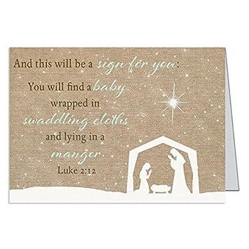 Religiöse Weihnachtskarten.Religiöse Weihnachtskarten Krippe Christian Urlaub Grußkarten Mit