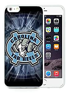 North Carolina Tar Heels White iPhone 6 plus 5.5 TPU Phone Case