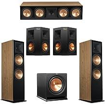 Klipsch 5.1 Cherry System with 2 RF-7 III Floorstanding Speakers, 1 RC-64 III Center Speaker, 2 Klipsch RP-250S Surround Speakers, 1 Klipsch R-112SW Subwoofer