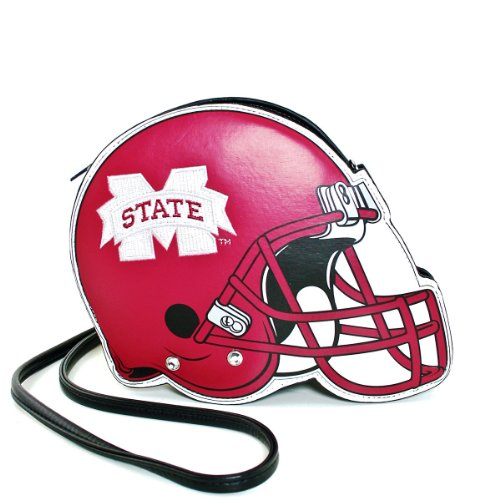 Mississippi State University Football Helmet Leatherette Cross Body Bag with (State University Ladies Purse)