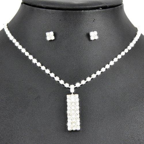 Jewellery Boucles d'oreilles Clous Strass Cristal Pendentif S279 &