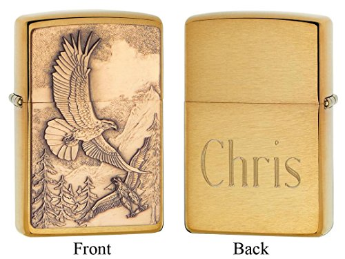 Personalized Zippo Where Eagles Dare Emblem Lighter with Free Engraving