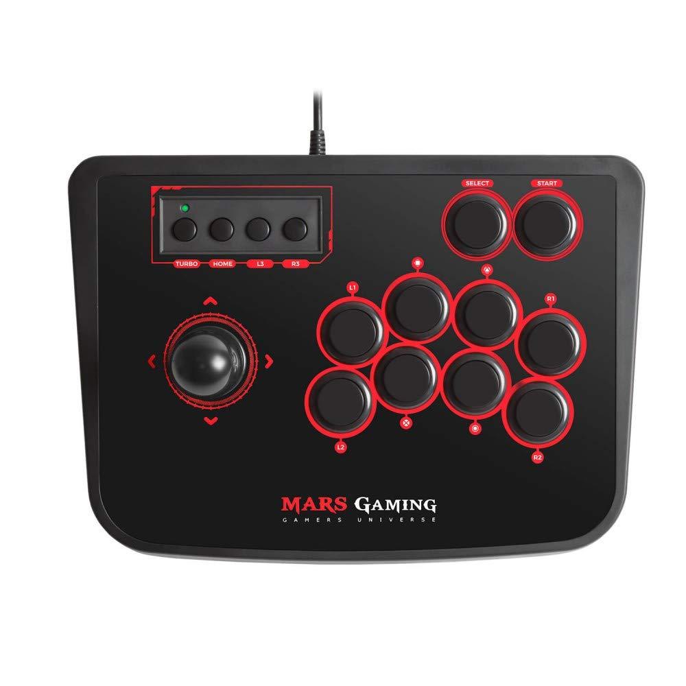 Mars Gaming MRA - Controlador Arcade Stick, PC,PS2,PS3 y Raspberry Pi