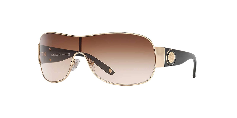 3d595caa58 Amazon.com  Versace Womens Sunglasses (VE2101) Gold Brown Metal -  Non-Polarized - 36mm  Versace  Clothing