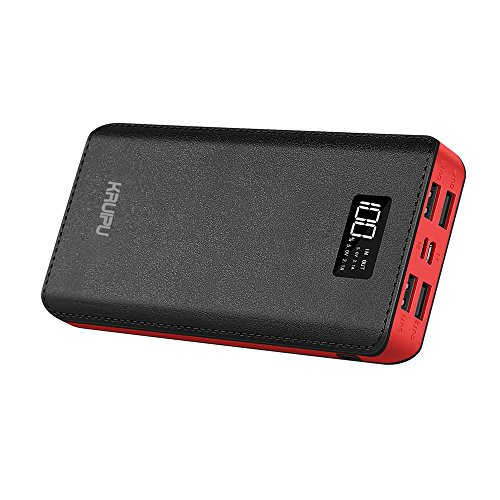 Power Bank Portable Charger 24000mAh 4 OutPut Ports Huge Capacity Battery Pack With AC Power Adapter Included For iPhone, iPad, Samsung Galaxy, Android And More