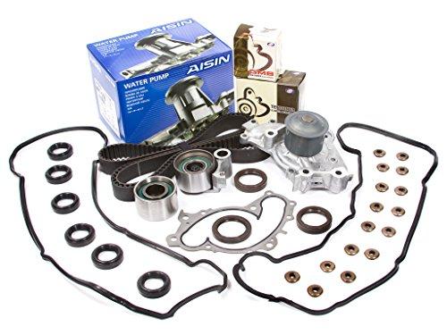 Evergreen TBK257VCA Fits 96-05 Toyota & Lexus 3.0L 1MZFE Timing Belt Kit Valve Cover Gasket AISIN Water Pump
