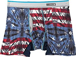 Stance Mens Basilone Fourth Fitted Boxers Blue L