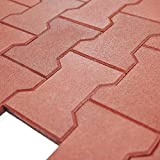 RevTime Garden Rubber Paver 1 Inch Thick for Patio and Garden Safety...
