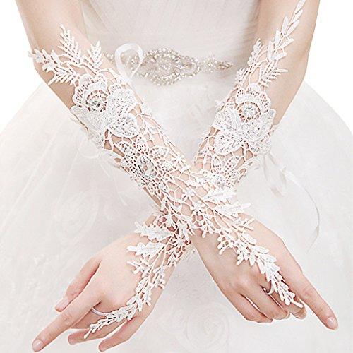Fingerless Pierced Rhinestone Evening Wedding