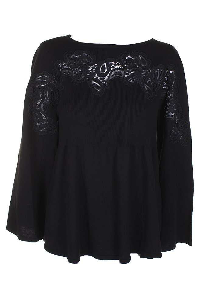 Style & Co. Plus Size Lace-Trimmed Babydoll Sweater (2X)