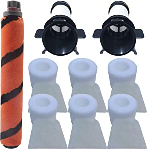 Fre.Filtor Combo-Pack Replacement Soft Brushroll & Filter Compatible with Shark Duoclean IC205,IF200,IF201,IF202,IF203Q,IF205,IF251,IF281,IR141,IR142,UF280 Vacuums