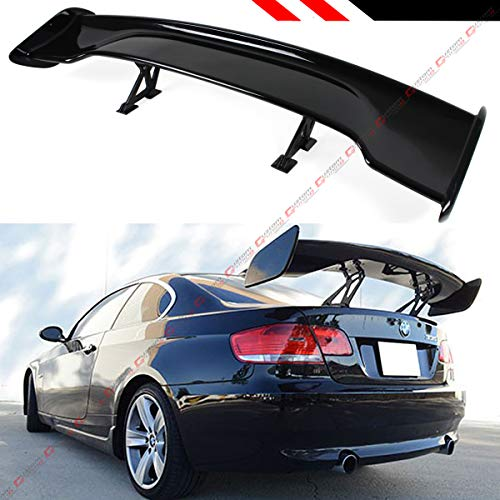 Cuztom Tuning Universal 57 Inch ABS Adjustable Glossy Black Wide GT-Style GT Trunk Spoiler Wing W/ 3 Leg Stand Mounting Width Options