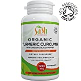 Organic Turmeric Curcumin Capsules with added Organic Black Pepper for best absorption | High Strength | Joint Pain and Arthritis Relief | 120 Veg Capsules | Soil Association Certified | Made in UK