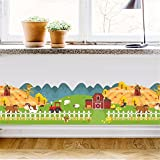 wallpaper stickers Wallpapers murals Cartoon animal farm decorative stickers pasture scenery baseboard waist line living room corner decoration stickers self-adhesive environmental protection, 70X25CM