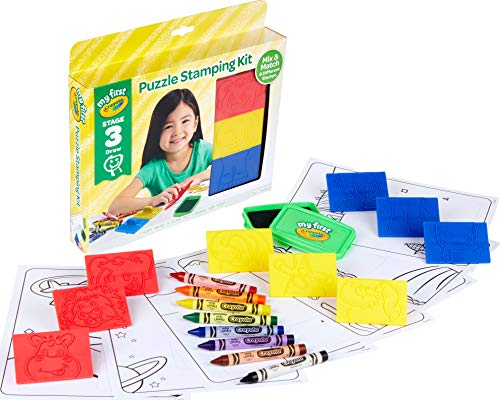 51TfdPnbYiL - Crayola My First Animal Stamper Set, Coloring & Learning Toys for Toddlers, Toddler Gift, Over 40 Pieces