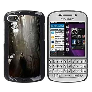 YOYOYO Smartphone Protección Defender Duro Negro Funda Imagen Diseño Carcasa Tapa Case Skin Cover Para BlackBerry Q10 - un héroe estar solo