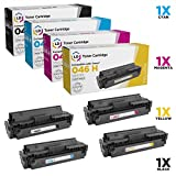 LD Compatible Canon 046H Set of 4 HY Toner Cartridges: 1254C001 Black, 1253C001 Cyan, 1252C001 Magenta & 1251C001 Yellow for ImageCLASS MF735Cdw, LBP654Cfw, MF733Cdw, LBP654Cdw & MF731Cdw