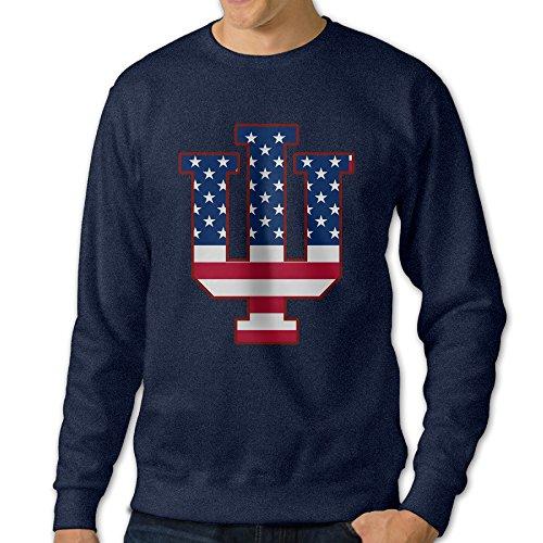 [U9 Men's Indiana University Bloomington Crew-Neck Sweater] (Makers Mark Costume)