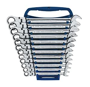 GearWrench 9901 12 Piece Metric Flex-Head Combination Ratcheting Wrench Set