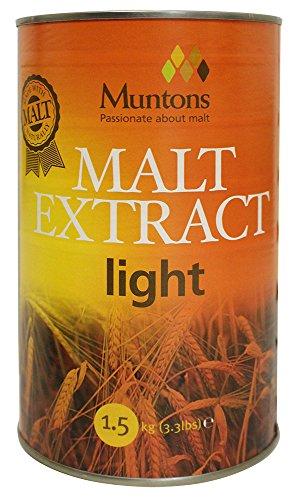Home Brew Ohio 3.3 lb Muntons Unhopped Liquid Malt Extract (Extract Malt Liquid Light)