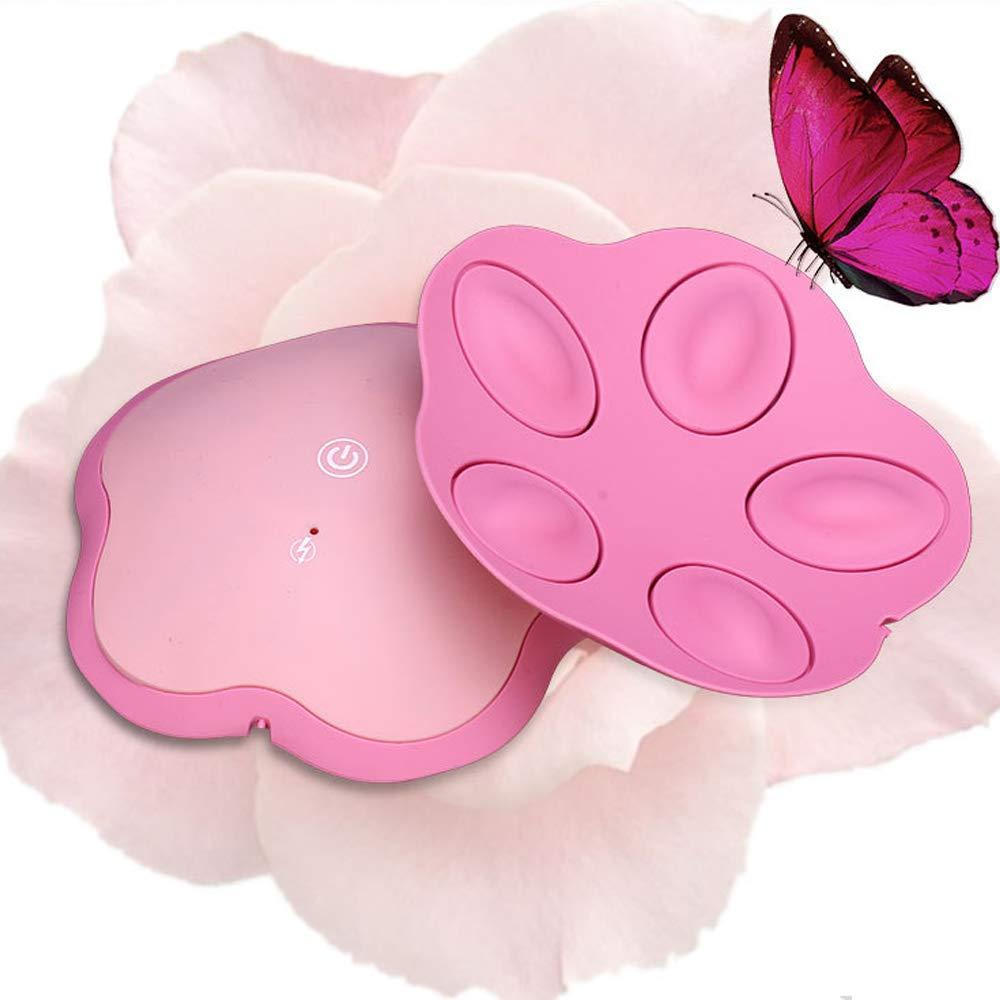 El sujetador calentado del masaje de la vibración, massager conveniente inalámbrico recargable del realce del pecho del masaje de la vibración, massager del ...