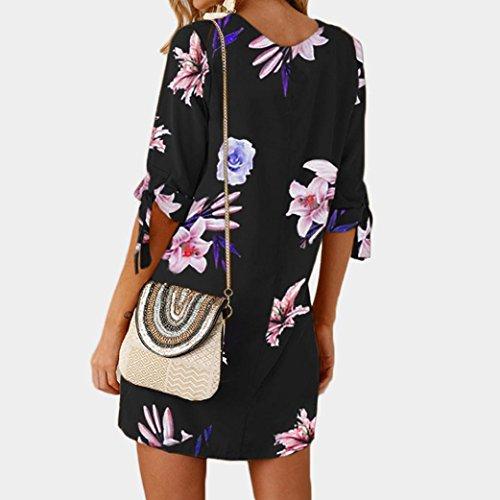 P Floral DonnaDragon868 Women Dress Blu Bowknot Casual Abiti Young Beach Cocktail Summer Mini OPTXiwkZu