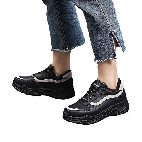 Velluto Plus Alta Sneakers Zarupeng Sport Studente Scarpa Da Shoes Estate Scarpe Nero Sportive Moda Piattaforma Donna Casual U0qUH8w