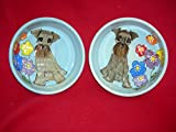 8'' and 6'' Pet Bowls for Food and Water. Personalized at no Charge. Signed by Artist, Debby Carman.
